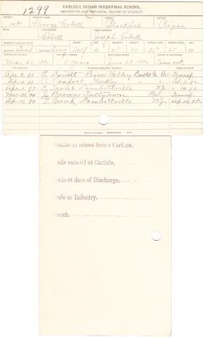 George Cobell Student File