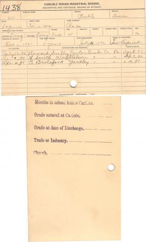 James Hiowa (Hi-o-wa) Student File
