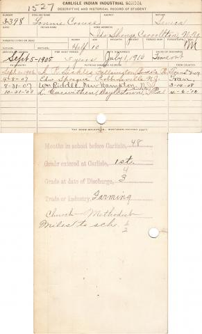 Lonnie Crouse Student File