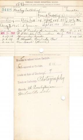 Wesley Tallchief Student File