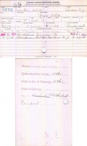 Franklin White Student File