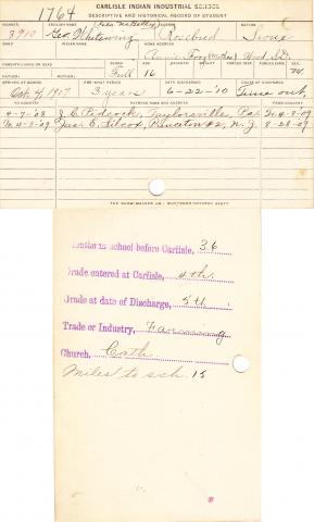 George Whitewing Student File