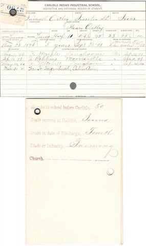 Samuel Ortley Student File