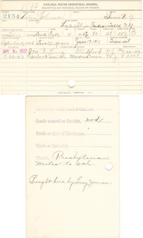 Delia Johnson Student File
