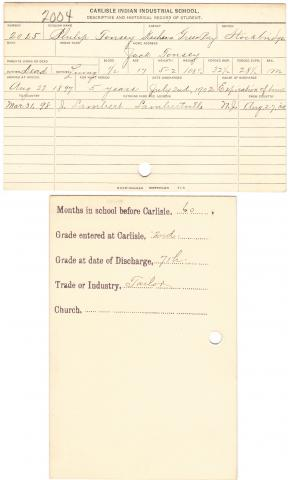 Philip Tousey Student File