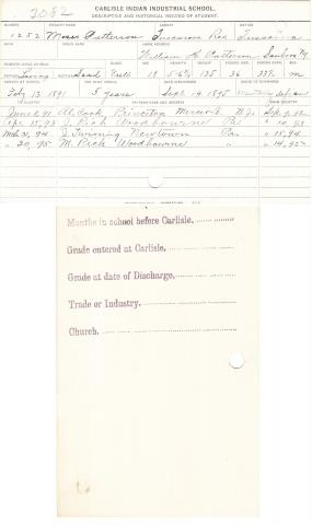 Moses Patterson Student File