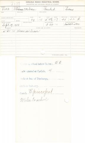 Florence McLean Student File