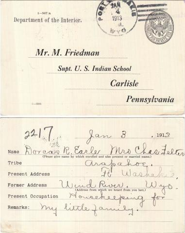 Dorcas R. Earle Student File