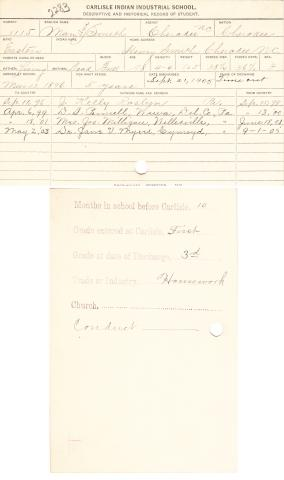 Mary Ann Smith Student File