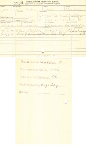 Esther Parker Student File