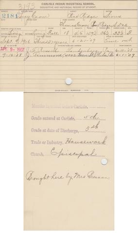 Lucy Crow Student File