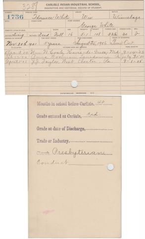 Florence White Student File