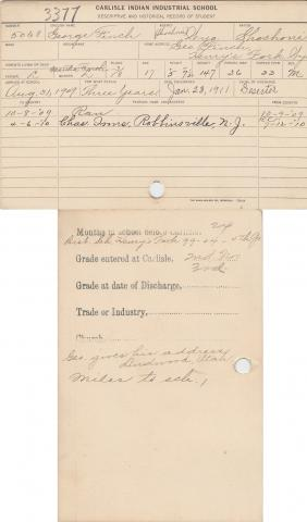 George Finch Student File