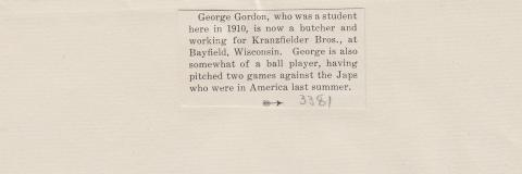 George Gordon Student File