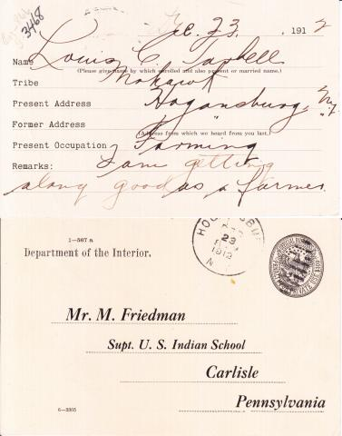 Lewis C. Tarbell Student File