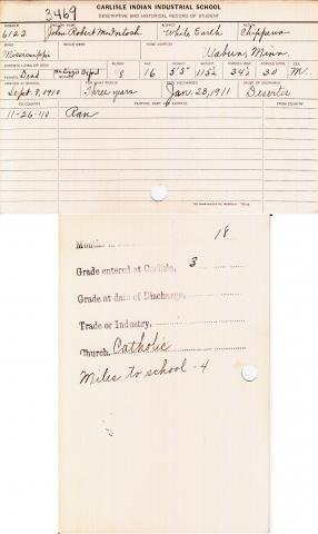 John Robert McIntosh Student File
