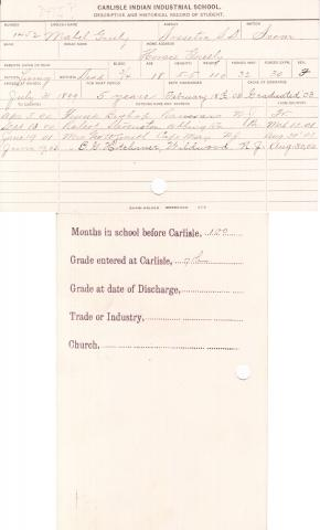 Mabel Greely Student File