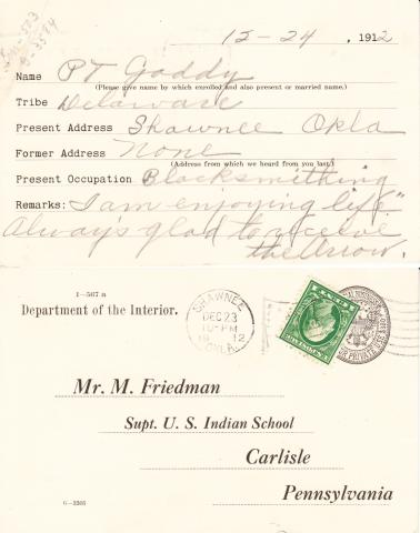 Peter Gaddy Student File