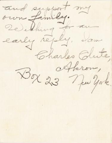 Charles Clute Student File