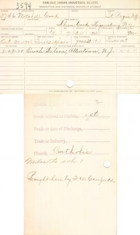 Mitchell Cook Student File