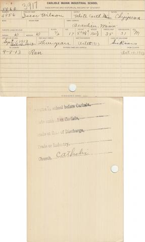 Isaac Wilson Student File