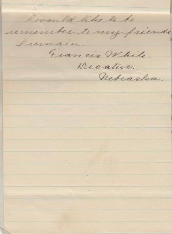 Francis White Student File