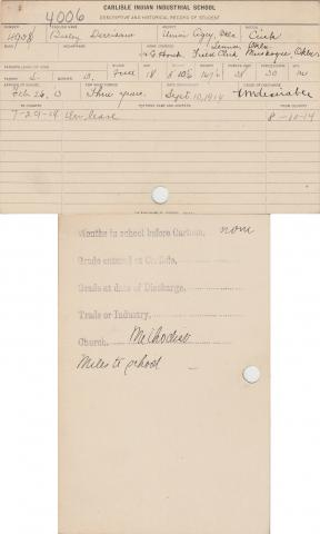 Beeley Derrisaw Student File