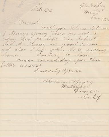 George Young Student File