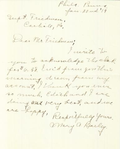 Mary A. Bailey Student File