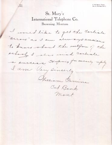 William Perrine Student File
