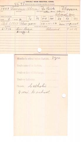 Lawrence Obern Student File