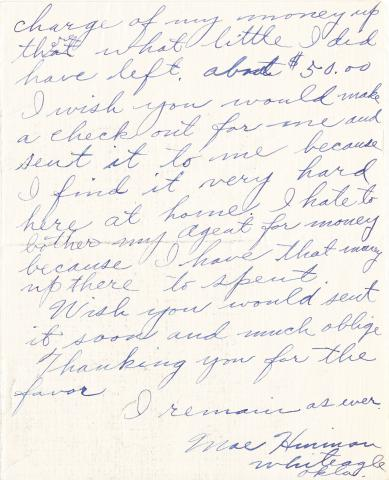 Mary Hinman Student File