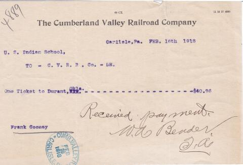 Wallace Franklin Cooney Student File