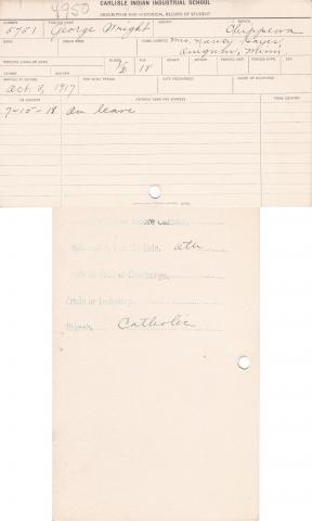 George Wright Student File