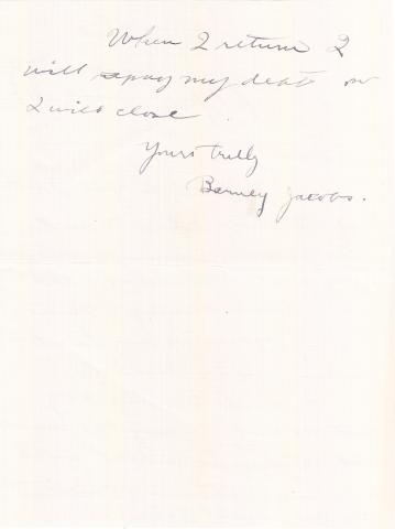 Barney Jacobs Student File