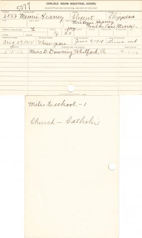 Mamie Heaney Student File