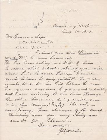 Clarence Welch Student File