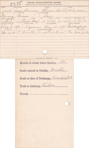James Flannery (Conas) Student File