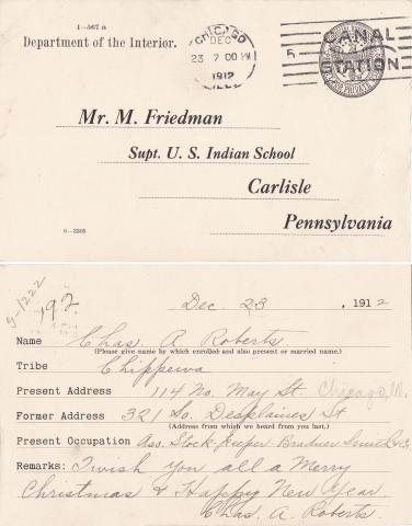 Charles Roberts Student File