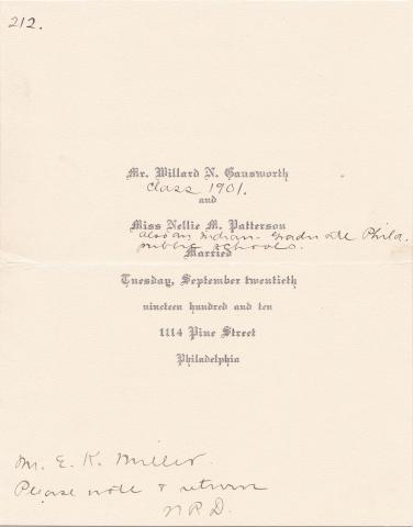 Willard Gansworth Student File