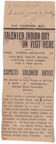 Fred Cardin Student File