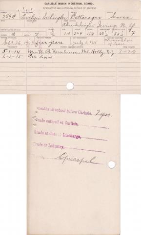 Evelyn Schingler Student File