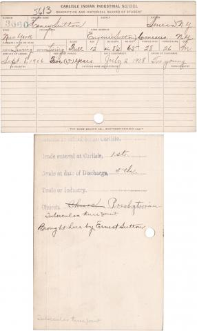 Henry Sutton Student File