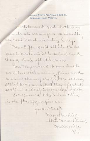 Mary Lonechief Student File