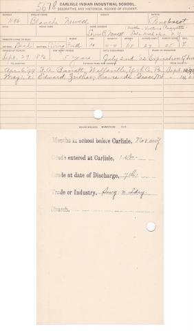 Blanche Newell Student File