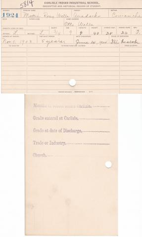 Mattie Rosy Wells Student File