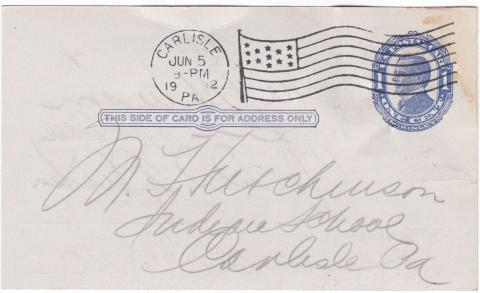 Mary Hutchinson Student File