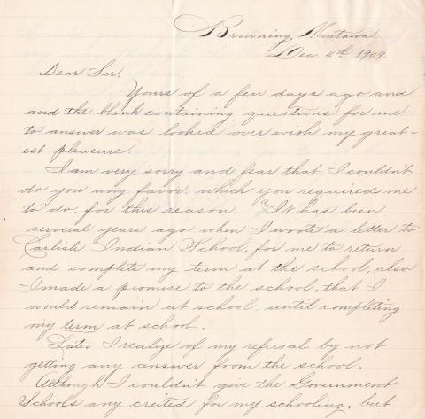 Charles Curly Bear Student File