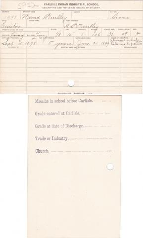 Maud Bailly Student File