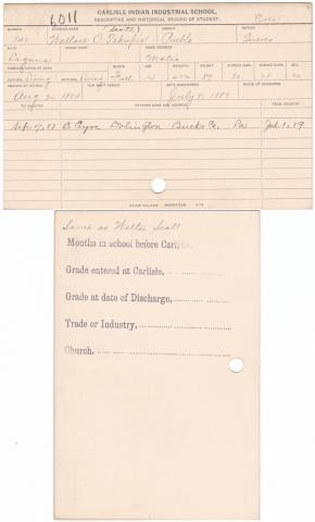 Wallace Scott Student File